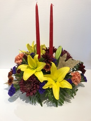 Thanksgiving Centerpiece from Blythe Flowers in Ottawa, IL