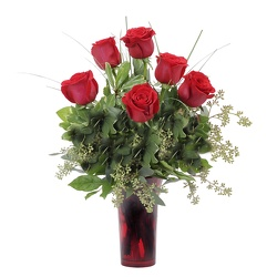 Red Roses - Half Dozen from Blythe Flowers in Ottawa, IL