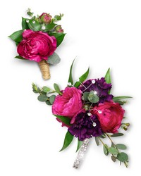 Allure Corsage and Boutonniere Set from Blythe Flowers in Ottawa, IL