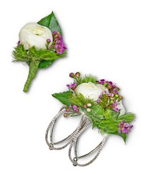 Intrinsic Corsage and Boutonniere Set from Blythe Flowers in Ottawa, IL