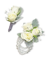 Virtue Corsage and Boutonniere Set from Blythe Flowers in Ottawa, IL