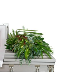 Beloved Botanics Casket Spray from Blythe Flowers in Ottawa, IL