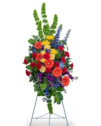 Vibrant Life Standing Spray from Blythe Flowers in Ottawa, IL