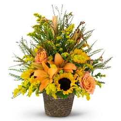 Fall Harvest Basket from Blythe Flowers in Ottawa, IL
