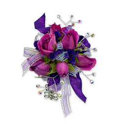 Royal Purple Wrist Corsage from Blythe Flowers in Ottawa, IL