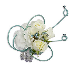 French Quarter Wrist Corsage from Blythe Flowers in Ottawa, IL