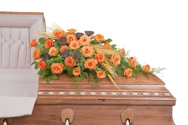 Fall Splendor Casket Spray from Blythe Flowers in Ottawa, IL