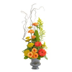 Heaven's Sunset Small  Urn from Blythe Flowers in Ottawa, IL