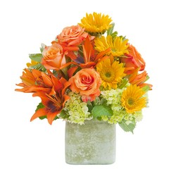 Textured Sunset Vase from Blythe Flowers in Ottawa, IL