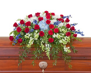Honor Casket Spray from Blythe Flowers in Ottawa, IL
