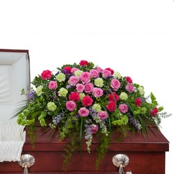 Forever Cherished Casket Spray from Blythe Flowers in Ottawa, IL