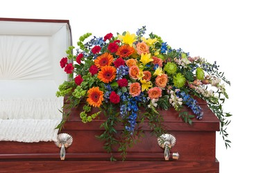 Treasured Celebration Casket Spray from Blythe Flowers in Ottawa, IL