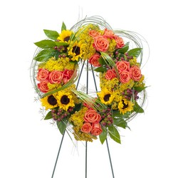 Heaven's Sunset Wreath from Blythe Flowers in Ottawa, IL